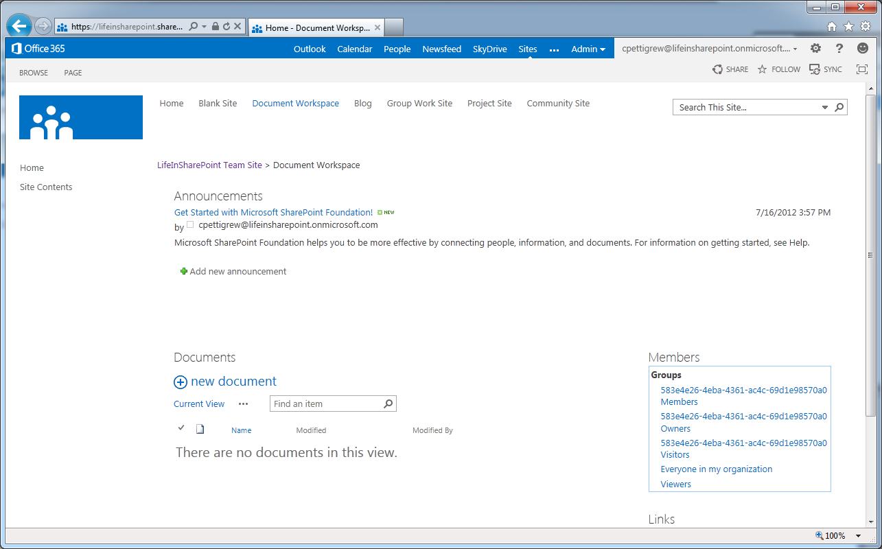 sharepoint workspace 2013